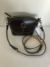 Dooney Bourke Handbag Selleria Mini Domed Bordeaux Crossbody Bag New