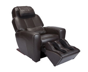 Showroom ESPRESSO LEATHER AcuTouch HT 9500 Human Touch Massage Chair Recliner