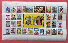Timbres Tintin 50 anniversaire Hergé 1979 planche complète