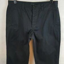 DKNY Mens Chino Trousers Black W34 L33 Pure Cotton Chelsea Fit Button Fly