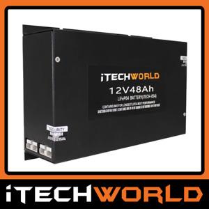 iTechworld 48Ah Slimline Lithium LiFePO4 Deep Cycle Battery 4WD Caravan RV