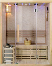 New 2 Two Person Canadian Hemlock Swedish Wet Dry Traditional Steam Sauna Spa