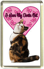 I Love My Tortie Cat Fridge Magnet,
