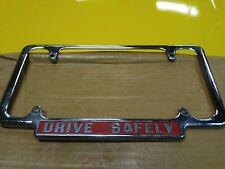 """Original 1940 's- 1950s Vintage Car / Truck Tag Frame """" Drive safely """""""