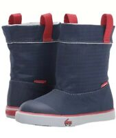 NEW See Kai Run Montlake Waterproof Boy's Size 2 Winter Rain Boot, Navy & Red