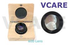 Double Aspheric Lens 60d Ophthalmic Diagnostic Lens 60d Indian Black With Case