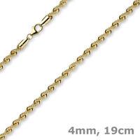 4mm Armband Kordelkette Armkette aus 585 Gold Gelbgold glänzend 19cm Armschmuck