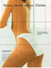 PUBLICITE ADVERTISING 084  1994  CLARINS cosmétiques corps doux ferme & mince