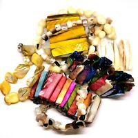 Job Lot Vintage Shell Jewellery. Bracelets And Necklaces. Mother Of Pearl.