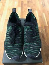 Adidas NMD_R1 STLT Primeknit Shoes Men Size 9.5 Core Black Noble Green Bold