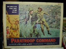 PARATROOP COMMAND, orig 1959 LC #1 (Army commando subdues German soldier)