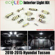 Fits 2010-2015 Hyundai Tucson WHITE LED Interior Light Package Kit 8 Bulbs
