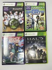 Xbox 360 Games - Lot of 4 Halo Dance Central Sports Bowling Kinect