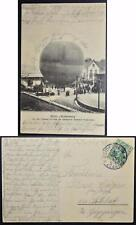 GERMANY 1911, $$$, BALLOON, Very RARE Flight Card Heidenheim to Schlat, Ballon