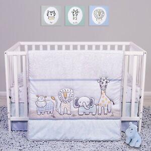 Trend Lab Sammy and Lou Safari Yearbook 4 Piece Baby Nursery Crib Bedding Set