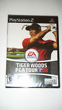 Tiger Woods PGA Tour 08 (Sony PlayStation 2, 2007) New Sealed Free Shipping