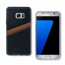 Transparent Synthetic Leather Cases & Covers for Samsung Mobile Phones