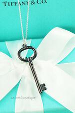 "AUTHENTIC Tiffany & Co. Titanium Key Pendant Necklace 16"" BEAUTIFUL! (#725, 517)"