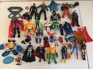 DC Marvel Superhero Action Figure Lot Toys