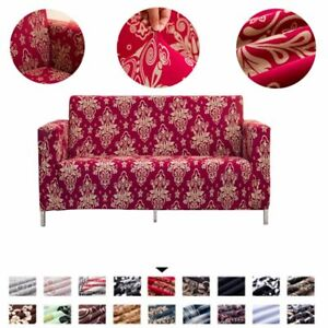 1/2/3/4 Seat Sofa Cover Spandex Stretch Floral Print Couch Slipcover Protector