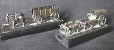 2 miniatures anciennes argent boeufs chevaux silver horses XIX