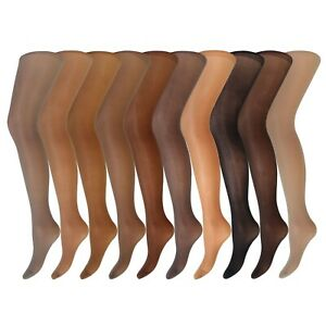 Womens Ladies 3 Pairs Cindy Medium Support Tights All Cols -MED LRG XL Free Del