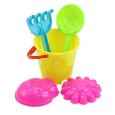Plastic Kids Sand Castle Bucket and Spade Set Beach Garden & Sandpit Toys New
