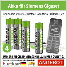 Arcas Akku AAA Micro Ni-MH 1100mAH 1,2V Accu für Gigaset