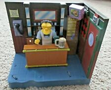THE SIMPSONS WORLD OF SPRINGFIELD MOE'S TAVERN WITH MOE RARE PLAYSET PLAYMATES