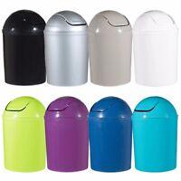Plastic 5 Litre Swing Lid Waste Dustbin Rubbish Garbage Bin Bathroom Toilet