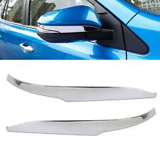 2xPlated Side Rearview Door Mirror Strip Cover Trim Cap Molding fit Toyota RAV4