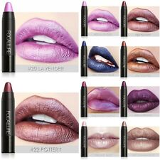 FOCALLURE Long Lasting Lipstick Matte Metallic Lip Gloss Pencil Crayon Makeup