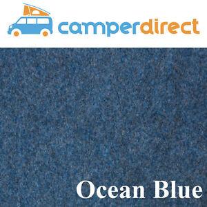 2m x 9m - Blue Van Lining Carpet Kit 4 Way Stretch Inc 9 Tins High Temp Spray