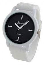 Geneva Platinum Women's Quartz Black Dial White Plastic / Silicone Watch 9856