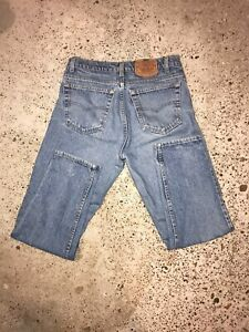 Vintage Levi's 550 Jeans Sz 33 x 30 Relaxed Fit Tapered Leg Distressed USA Made