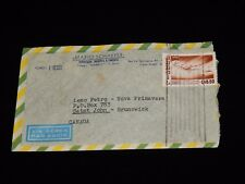 Vintage Cover, SAN PAULO, BRAZIL,Dumont Flight, Airmail, Sent Saint John,NB,1956