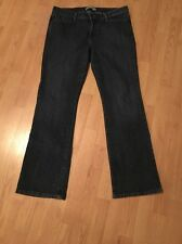 Womens Levi's 545 Low Boot Cut Jeans Size 14M Dark Wash  Flap Back Pockets