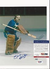 CHARLIE HODGE VANCOUVER CANUCKS HAND SIGNED COLOR 8X10 PSA T83108