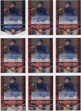 Lot of (17) Collin Wiles 2012 Panini Elite Auto RC's - Texas Rangers SP Prospect