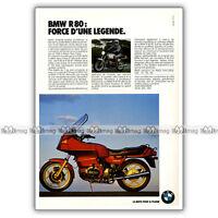 PUB BMW R 80 RT R80 R80RT - Original Advert / Publicité Moto de 1985