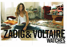 PUBLICITE ADVERTISING   2010   ZADIG & VOLTAIRE  collection montres  (2 pages)