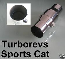 "2.5"" SPORTS EXHAUST CATALYTIC 200 CELL CONVERTOR CAT UNIVERSAL STAINLESS STEEL"