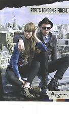 PUBLICITE ADVERTISING  2012   PEPE JEANS  Pepe's London's Finest