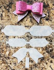Bent Tail Double Loop Hairbow Template
