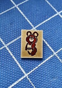 Pin badge MISHA BEAR Olympic games Olympics Moscow 1980 80 USSR Soviet Union