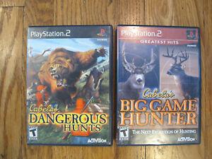 Cabela's Big Game Hunter & Dangerous Hunts Bundle Lot (Sony PlayStation 2, 2002)