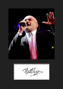 PHIL COLLINS #2 Signed Photo Print A5 Mounted Photo Print - FREE DELIVERY