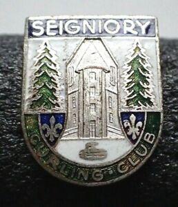 Vintage Curling Club Pin - Seigniory Quebec Canada Curling Club