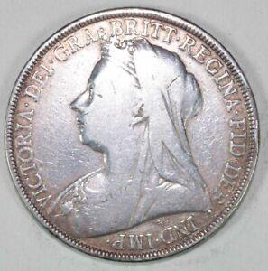 1900 Queen Victoria Silver Crown Coin