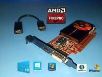 HP EliteDesk 705 800 Tower FirePro Video Card + Displayport to HDMI Adapter